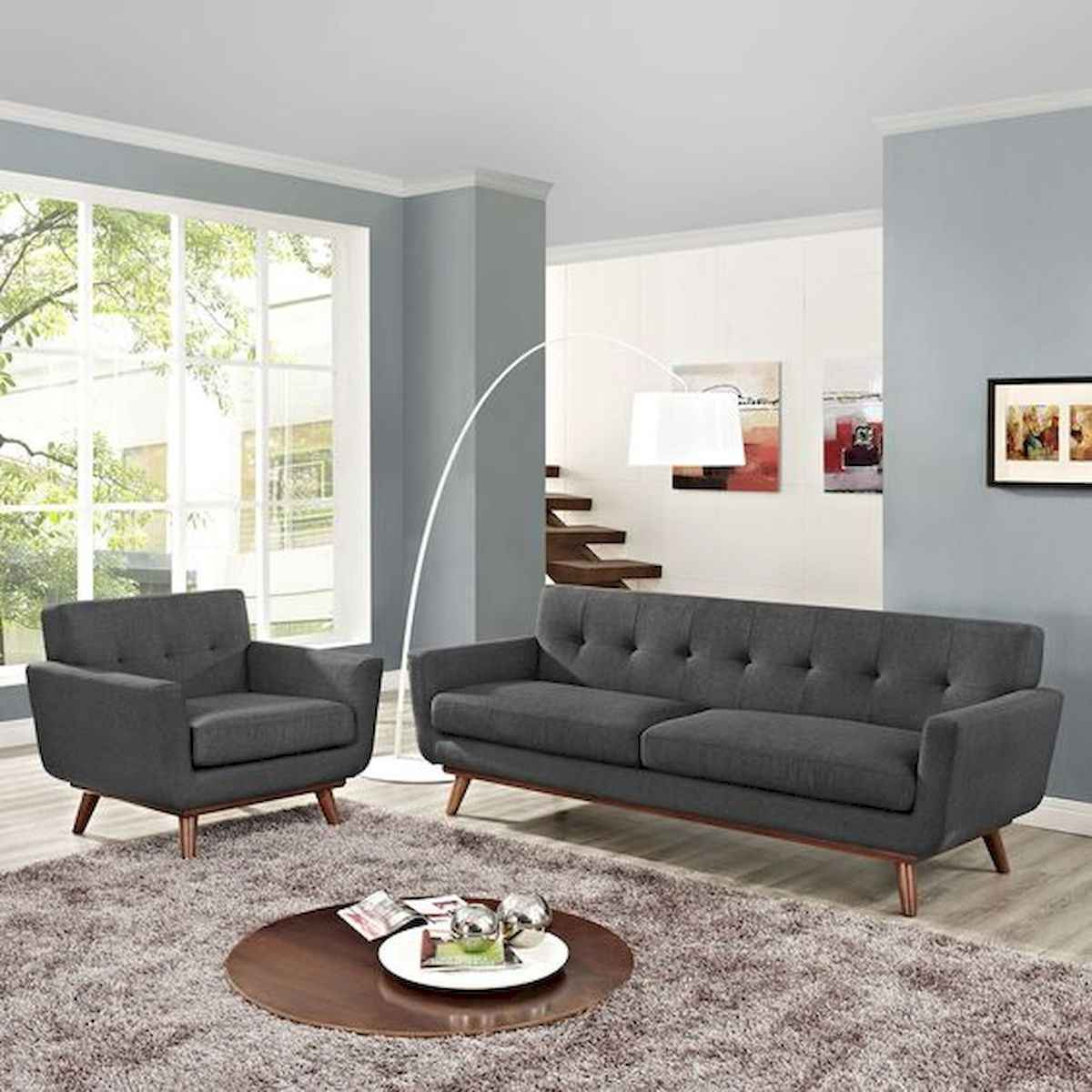 70 Stunning Grey White Black Living Room Decor Ideas And Remodel (21)