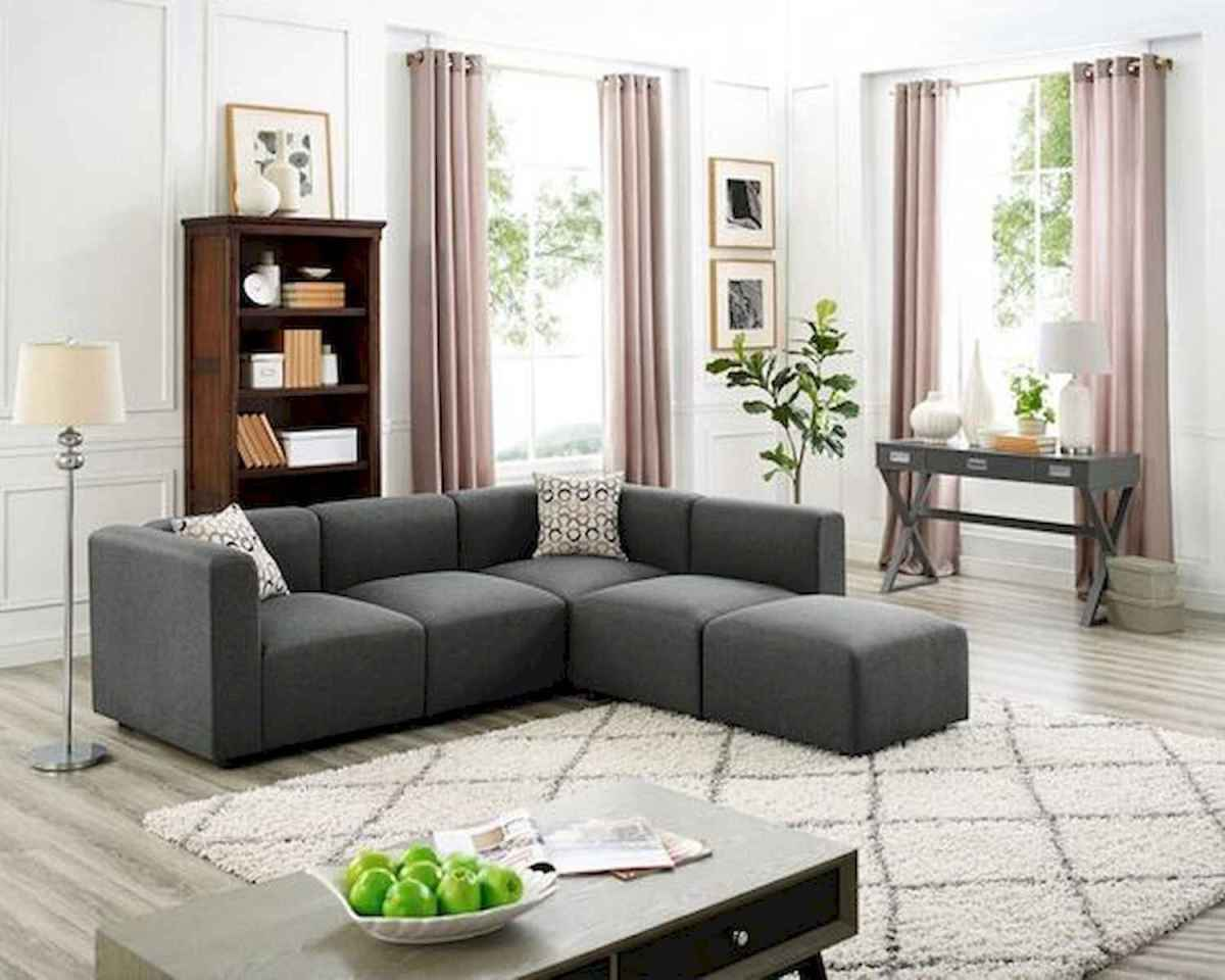70 Stunning Grey White Black Living Room Decor Ideas And Remodel (30)