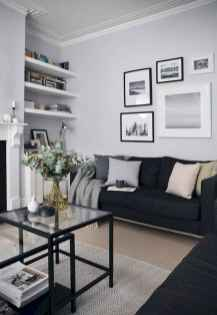70 Stunning Grey White Black Living Room Decor Ideas And Remodel (31)