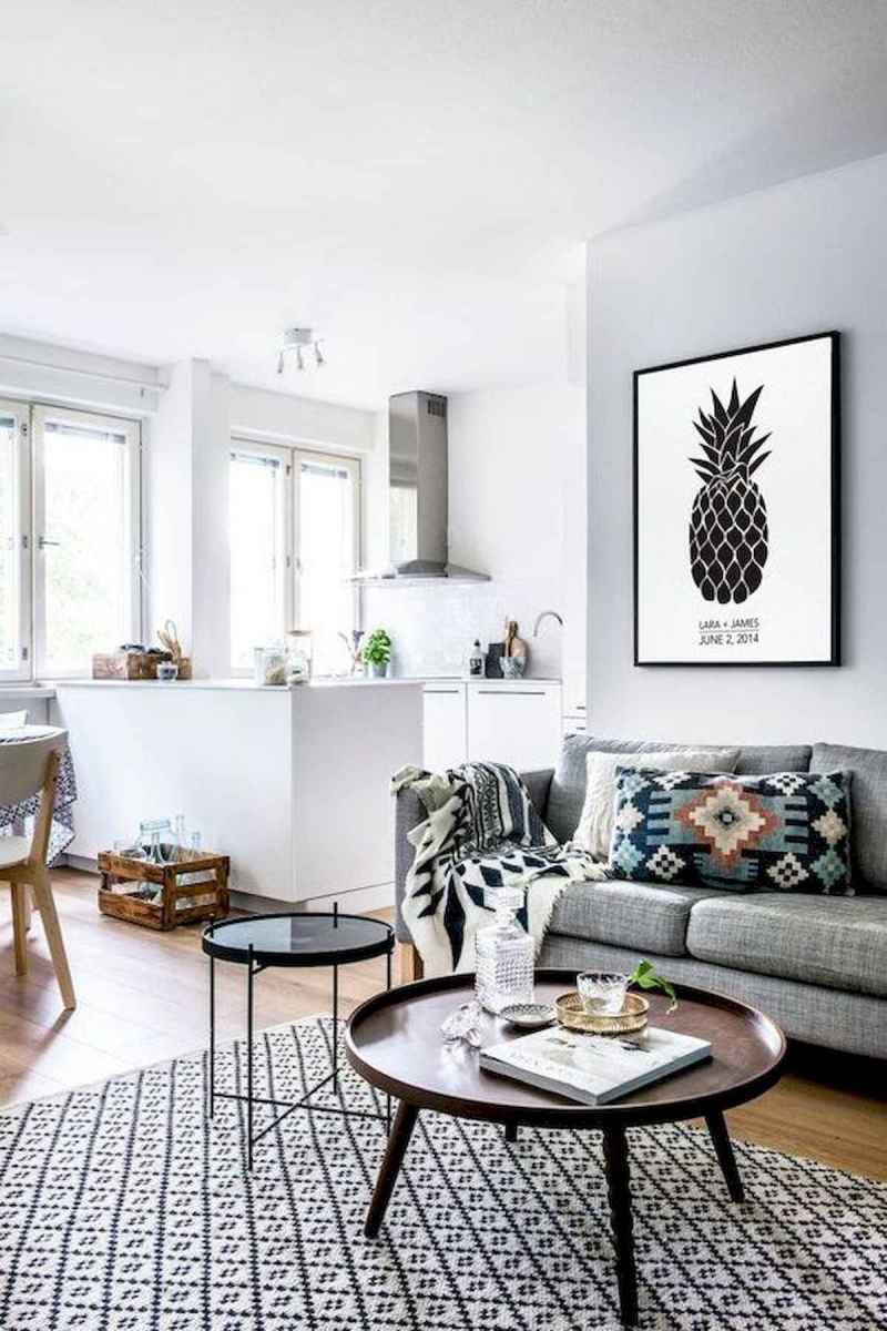 70 Stunning Grey White Black Living Room Decor Ideas And Remodel (33)