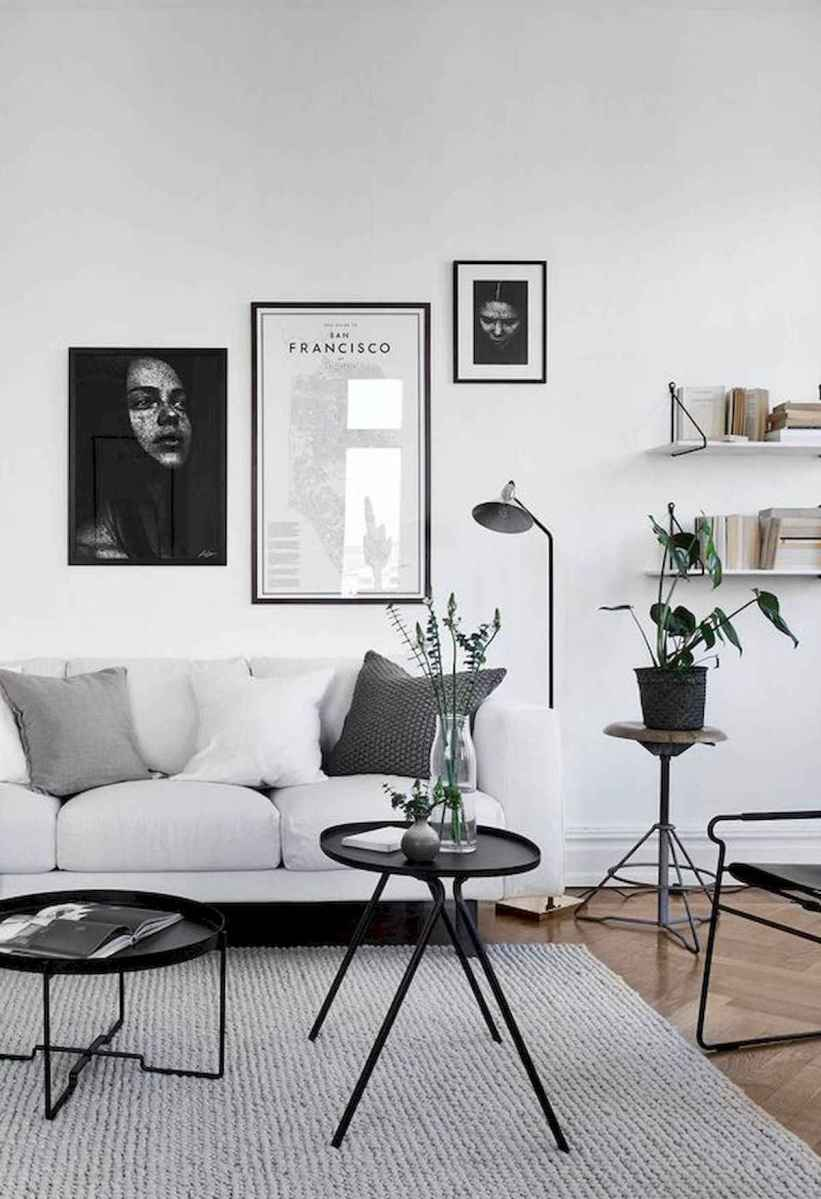 70 Stunning Grey White Black Living Room Decor Ideas And Remodel (38)