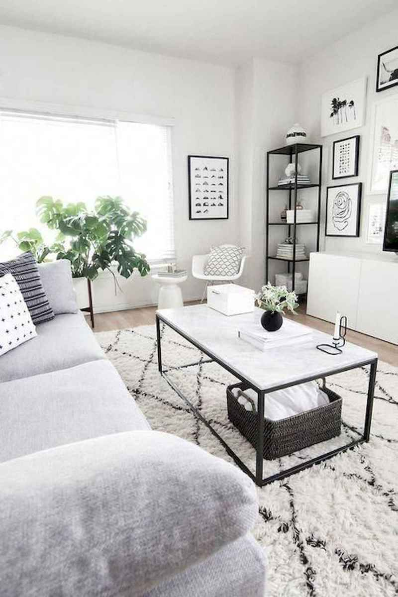 70 Stunning Grey White Black Living Room Decor Ideas And Remodel (4)