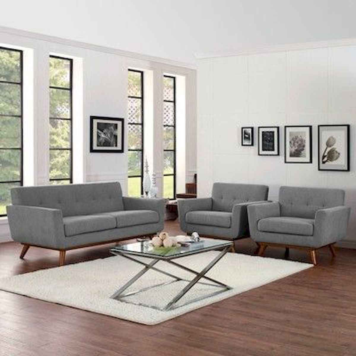 70 Stunning Grey White Black Living Room Decor Ideas And Remodel (46)