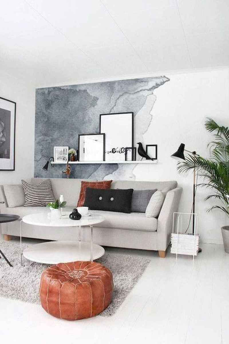70 Stunning Grey White Black Living Room Decor Ideas And Remodel (52)