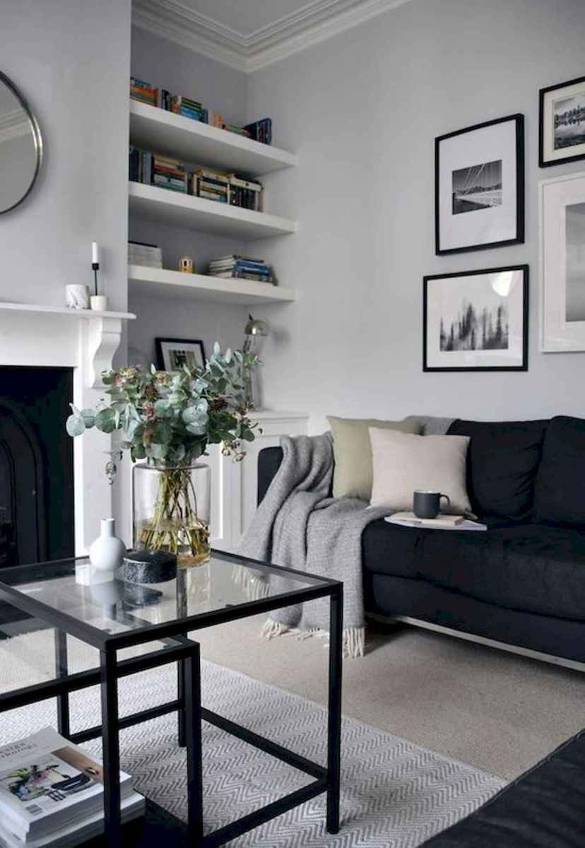 70 Stunning Grey White Black Living Room Decor Ideas And ...