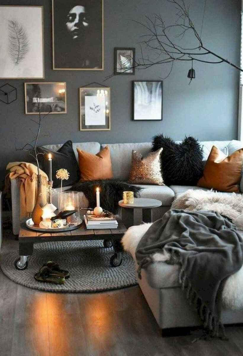 70 Stunning Grey White Black Living Room Decor Ideas And Remodel (67)
