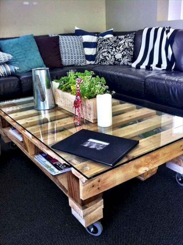 70 Suprising DIY Projects Mini Pallet Coffee Table Design Ideas (66)
