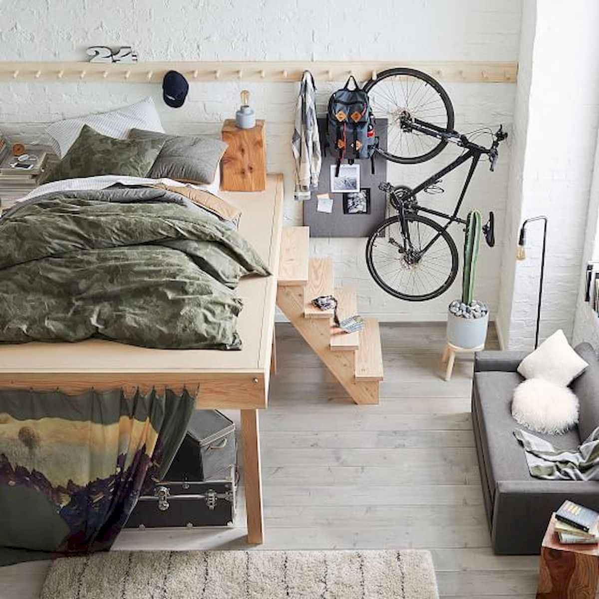 80 Fantastic Small Apartment Bedroom College Design Ideas and Decor (12)