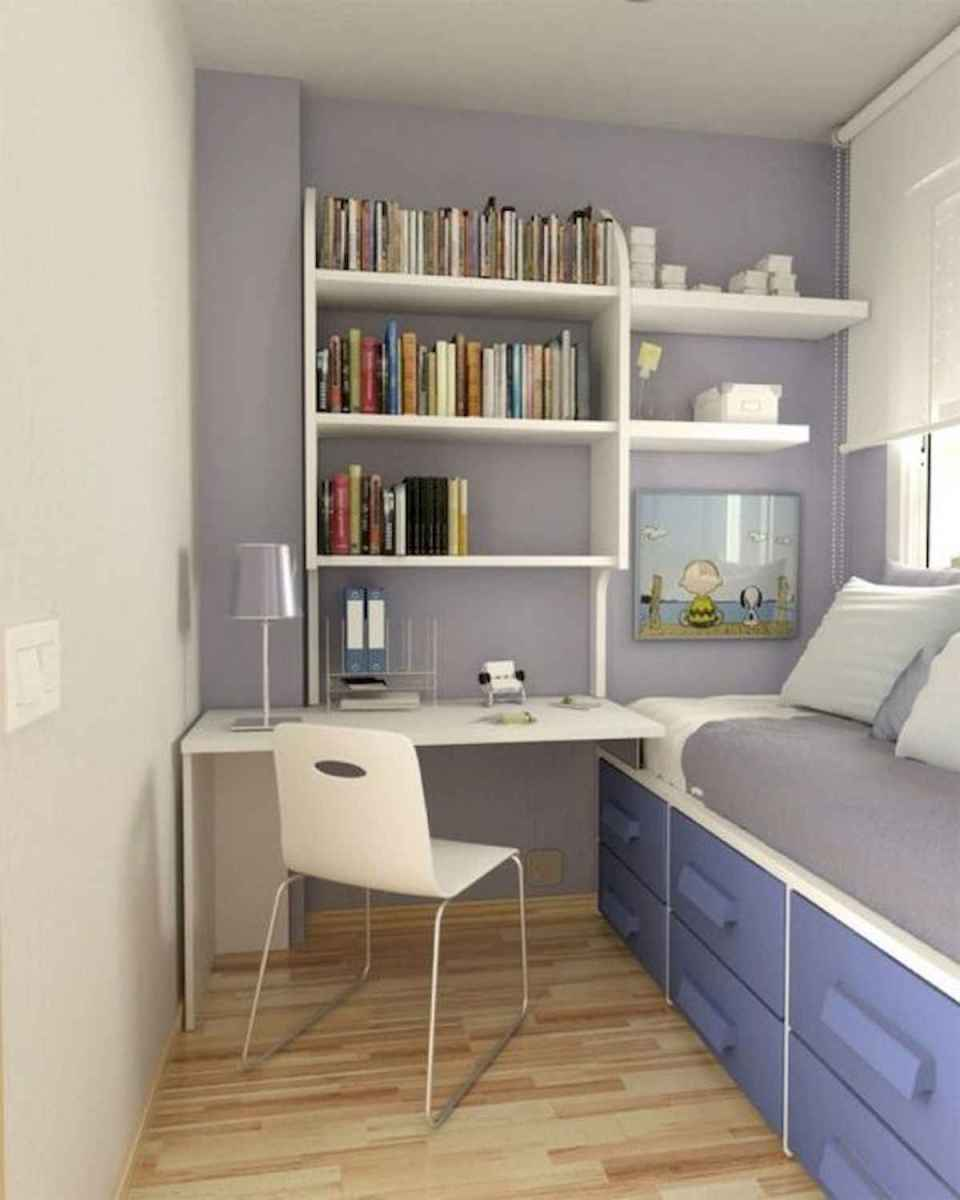 80 Fantastic Small Apartment Bedroom College Design Ideas and Decor (63)