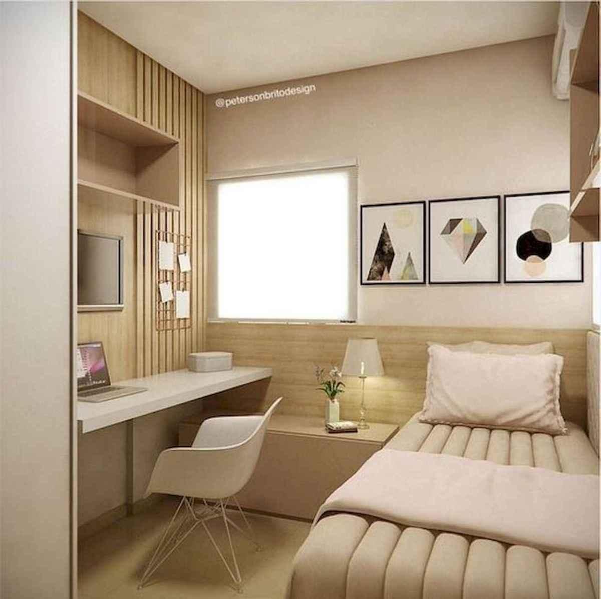 80 Fantastic Small Apartment Bedroom College Design Ideas and Decor (74)