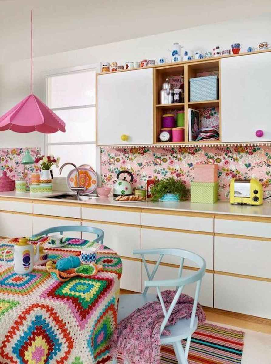 80+ Favorite Colorful Kitchen Decor Ideas And Remodel for Summer Project (36)