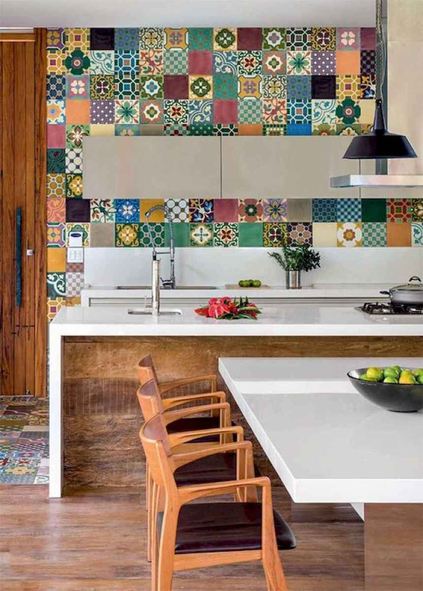 80+ Favorite Colorful Kitchen Decor Ideas And Remodel for Summer Project (64)