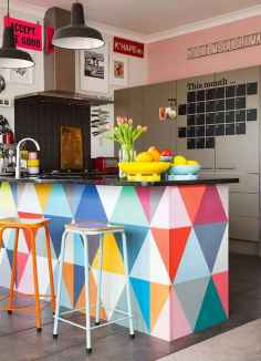 80+ Favorite Colorful Kitchen Decor Ideas And Remodel for Summer Project (67)