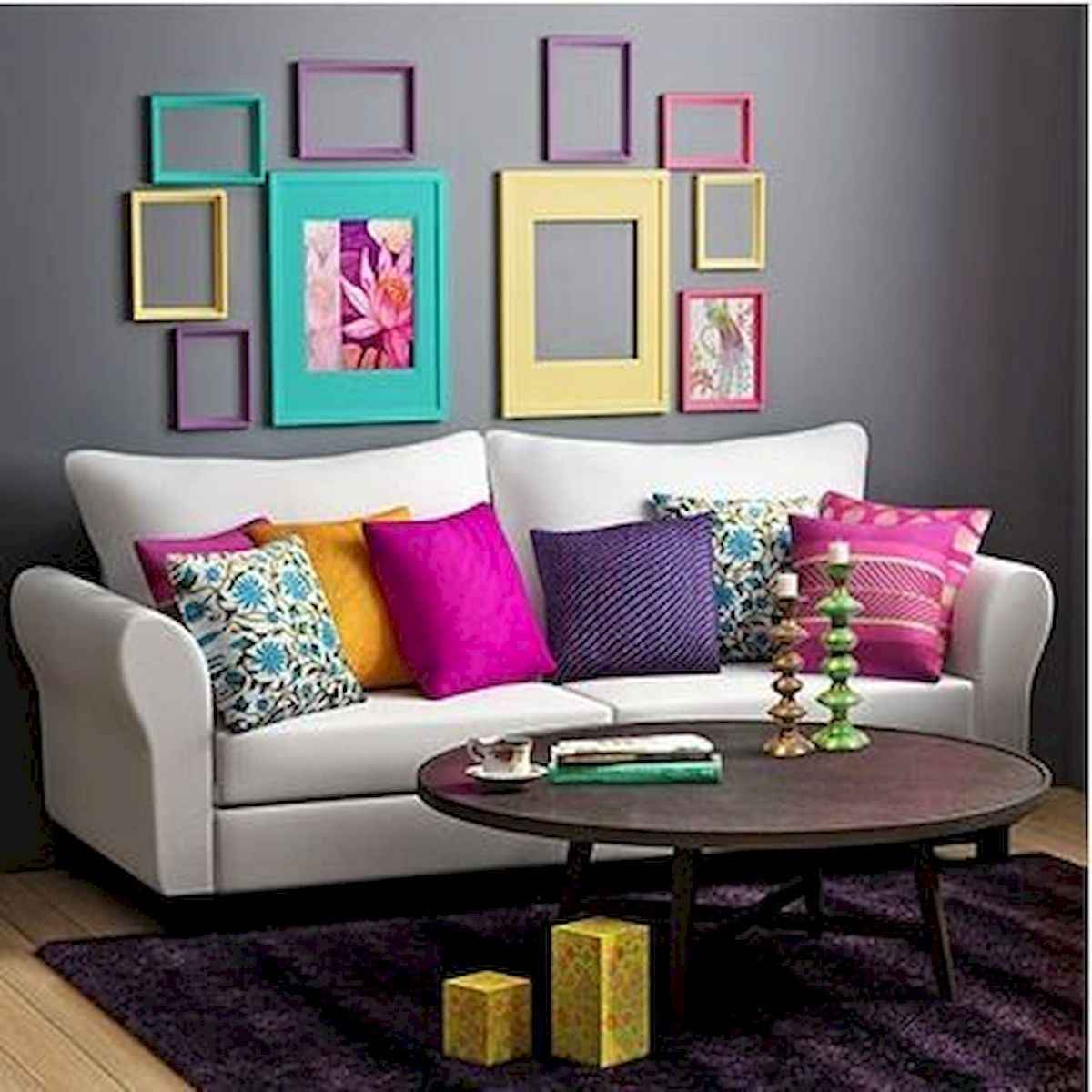 80+ Stunning Colorful Living Room Decor Ideas And Remodel for Summer Project (12)