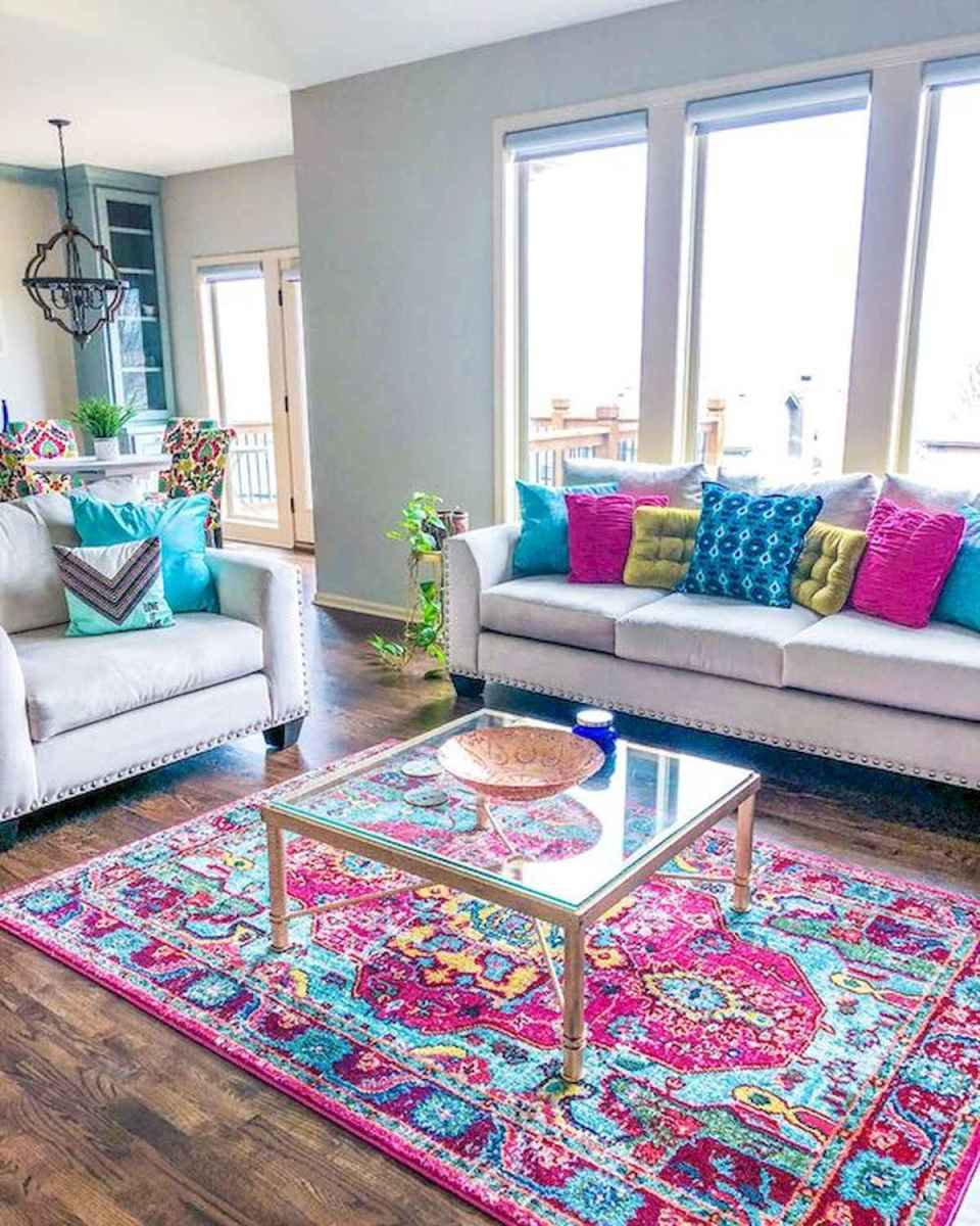 80+ Stunning Colorful Living Room Decor Ideas And Remodel for Summer Project (27)