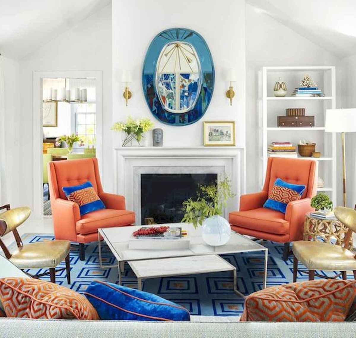 80+ Stunning Colorful Living Room Decor Ideas And Remodel for Summer Project (3)