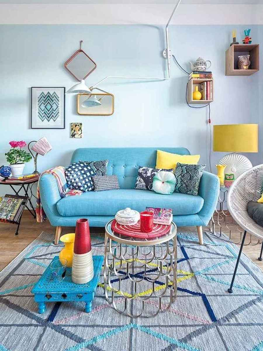 80+ Stunning Colorful Living Room Decor Ideas And Remodel for Summer Project (31)