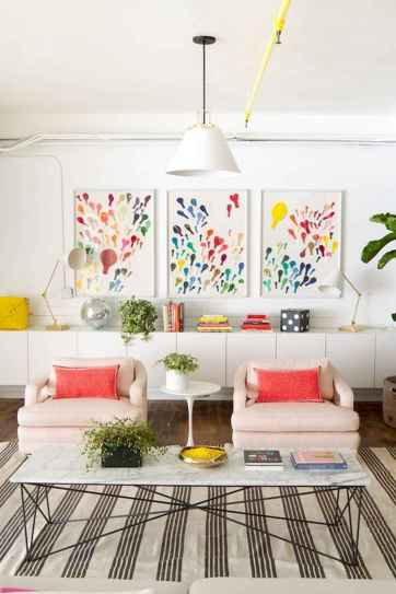 80+ Stunning Colorful Living Room Decor Ideas And Remodel for Summer Project (48)
