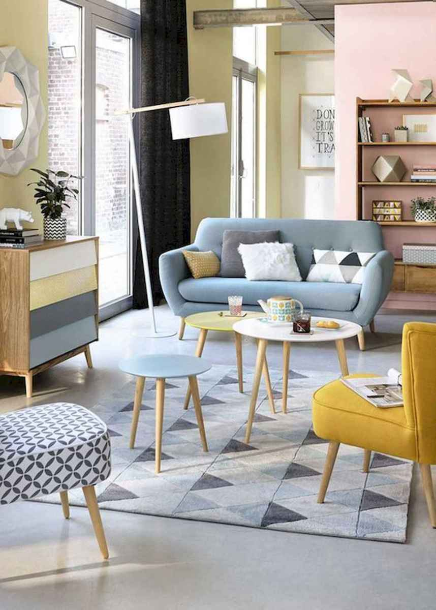 80+ Stunning Colorful Living Room Decor Ideas And Remodel for Summer Project (51)