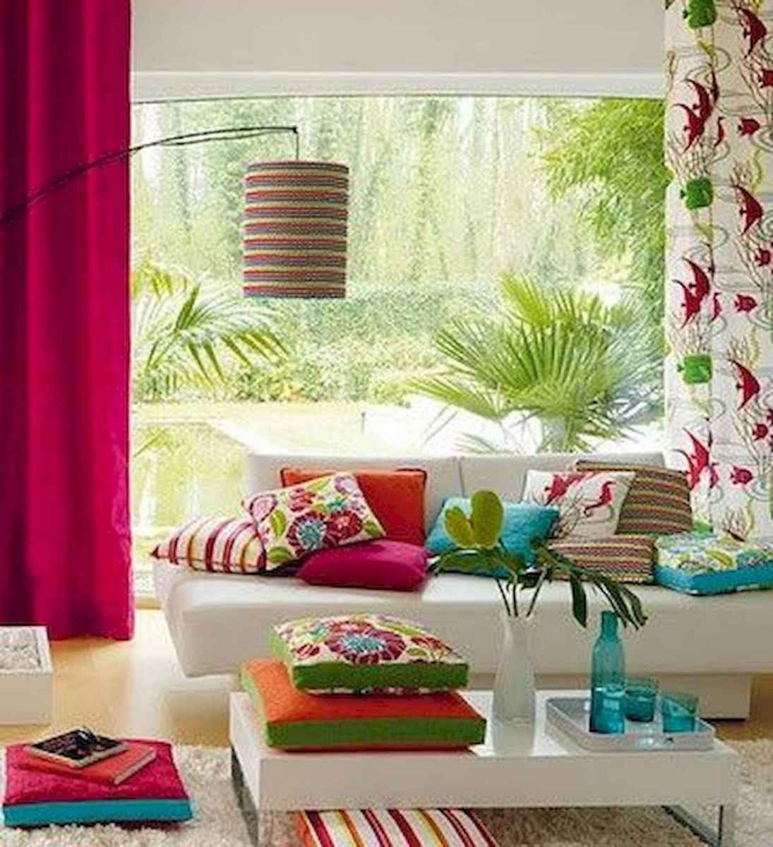 80+ Stunning Colorful Living Room Decor Ideas And Remodel for Summer Project (64)