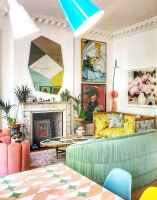 80+ Stunning Colorful Living Room Decor Ideas And Remodel for Summer Project (75)