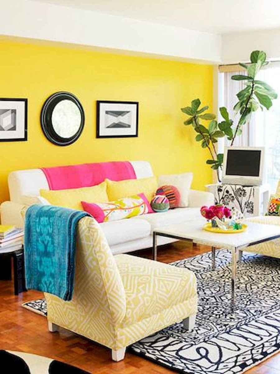 80+ Stunning Colorful Living Room Decor Ideas And Remodel for Summer Project (81)
