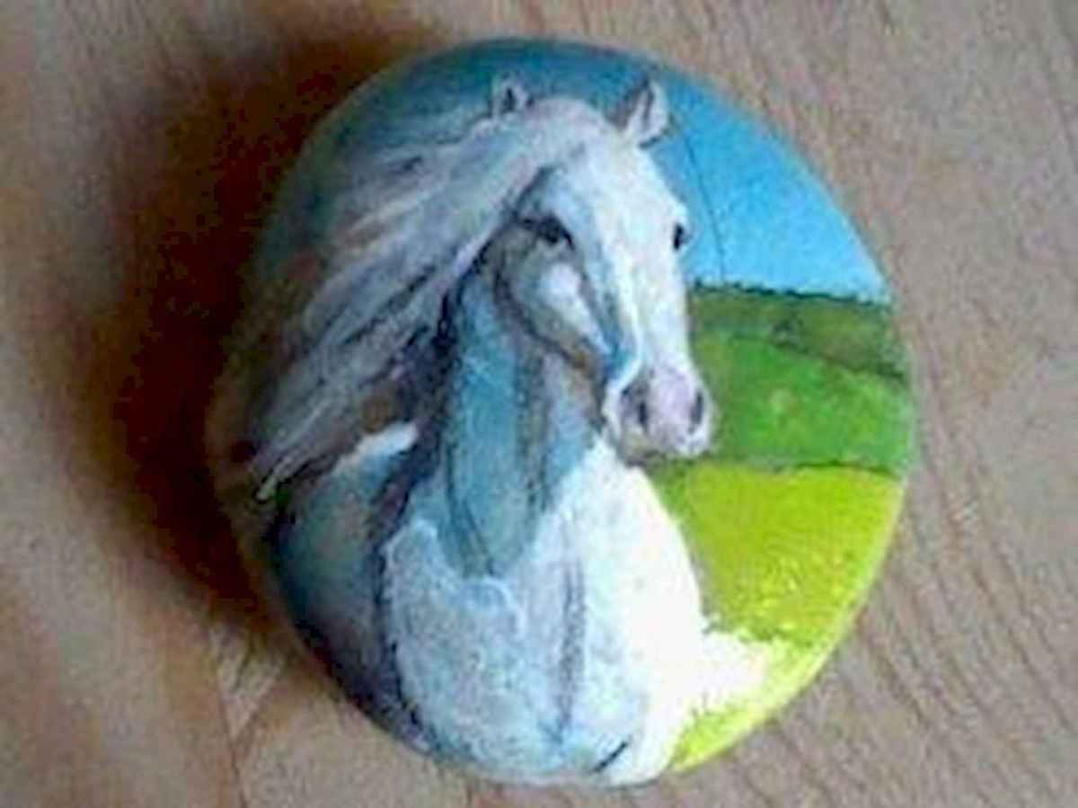 25 Suprising DIY Projects Painted Rocks Animals Horse for Summer Ideas (12)