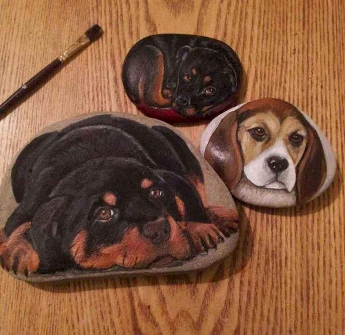 40 Awesome DIY Projects Painted Rocks Animals Dogs for Summer Ideas (10)