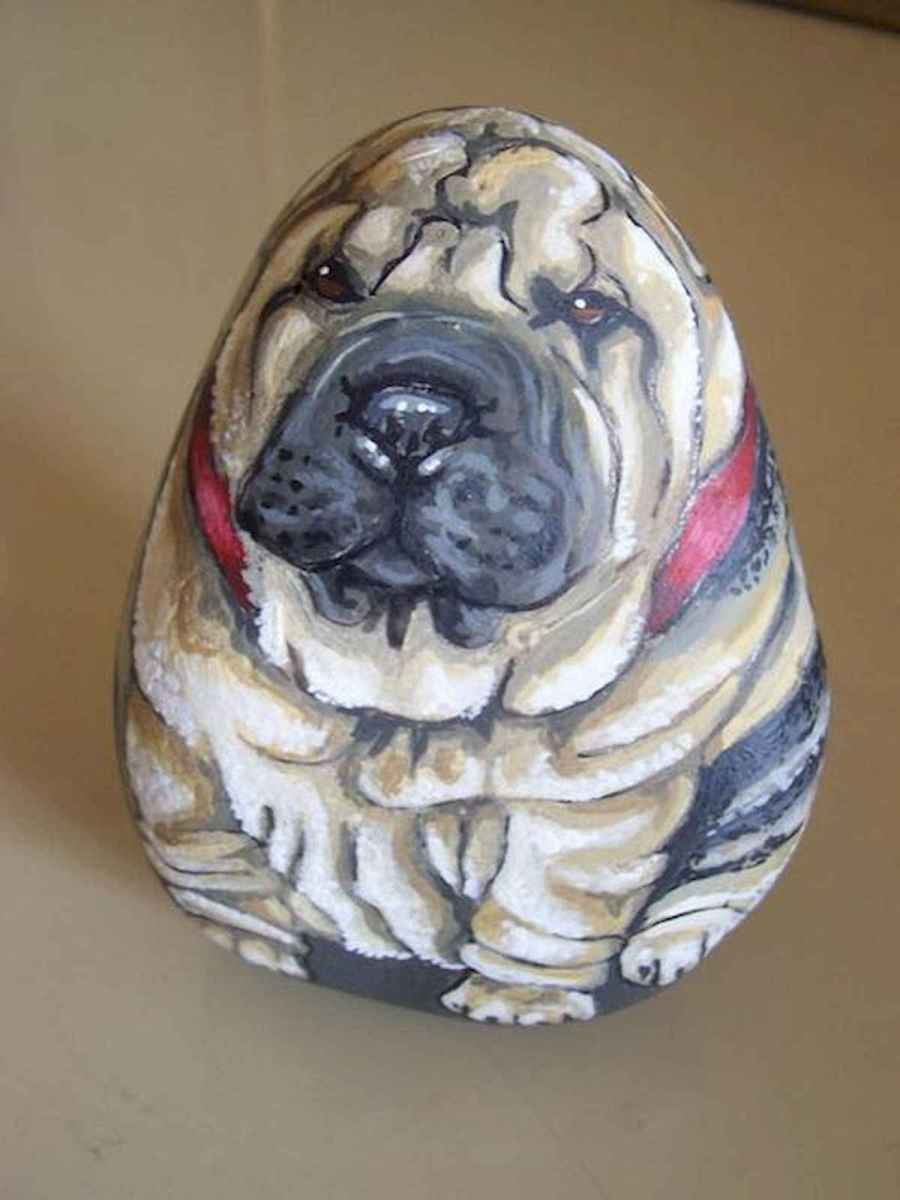 40 Awesome DIY Projects Painted Rocks Animals Dogs for Summer Ideas (17)