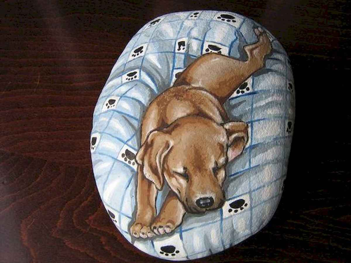 40 Awesome DIY Projects Painted Rocks Animals Dogs for Summer Ideas (21)