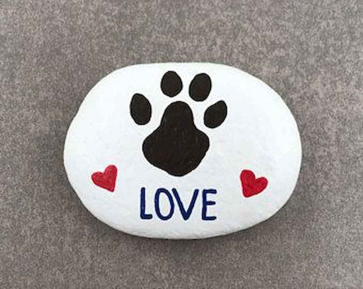 40 Awesome DIY Projects Painted Rocks Animals Dogs for Summer Ideas (24)