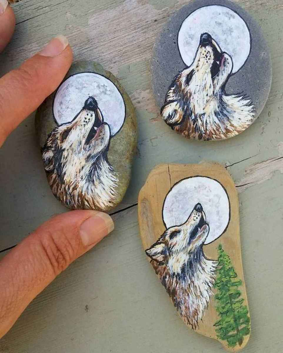 40 Awesome DIY Projects Painted Rocks Animals Dogs for Summer Ideas (34)