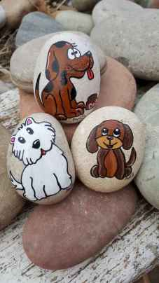 40 Awesome DIY Projects Painted Rocks Animals Dogs for Summer Ideas (35)