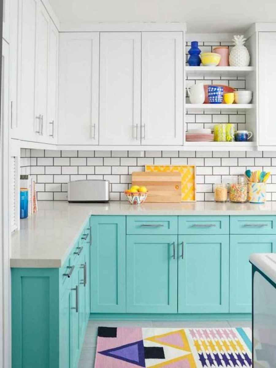 60 Lovely Painted Kitchen Cabinets Two Tone Design Ideas (11)