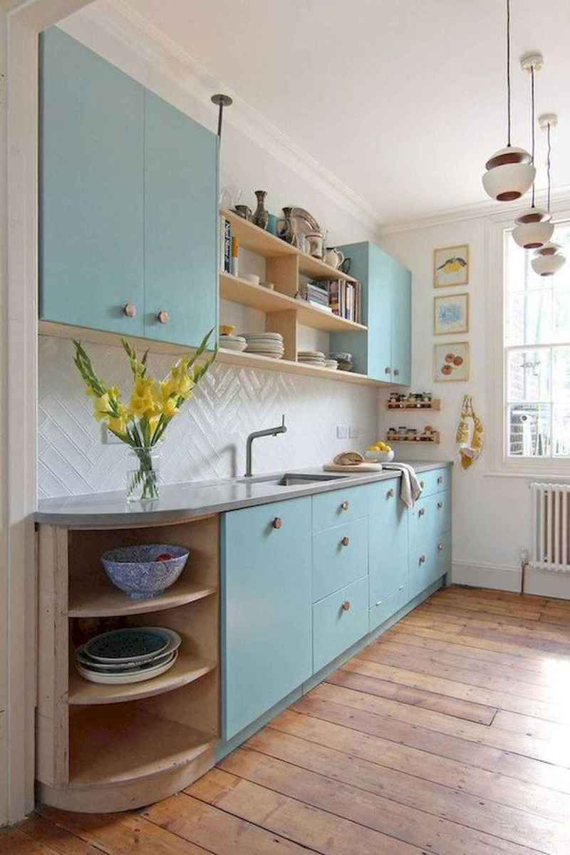 60 Lovely Painted Kitchen Cabinets Two Tone Design Ideas (12)