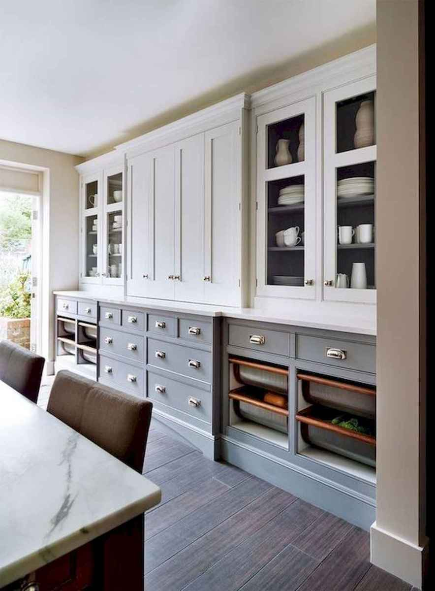 60 Lovely Painted Kitchen Cabinets Two Tone Design Ideas (14)
