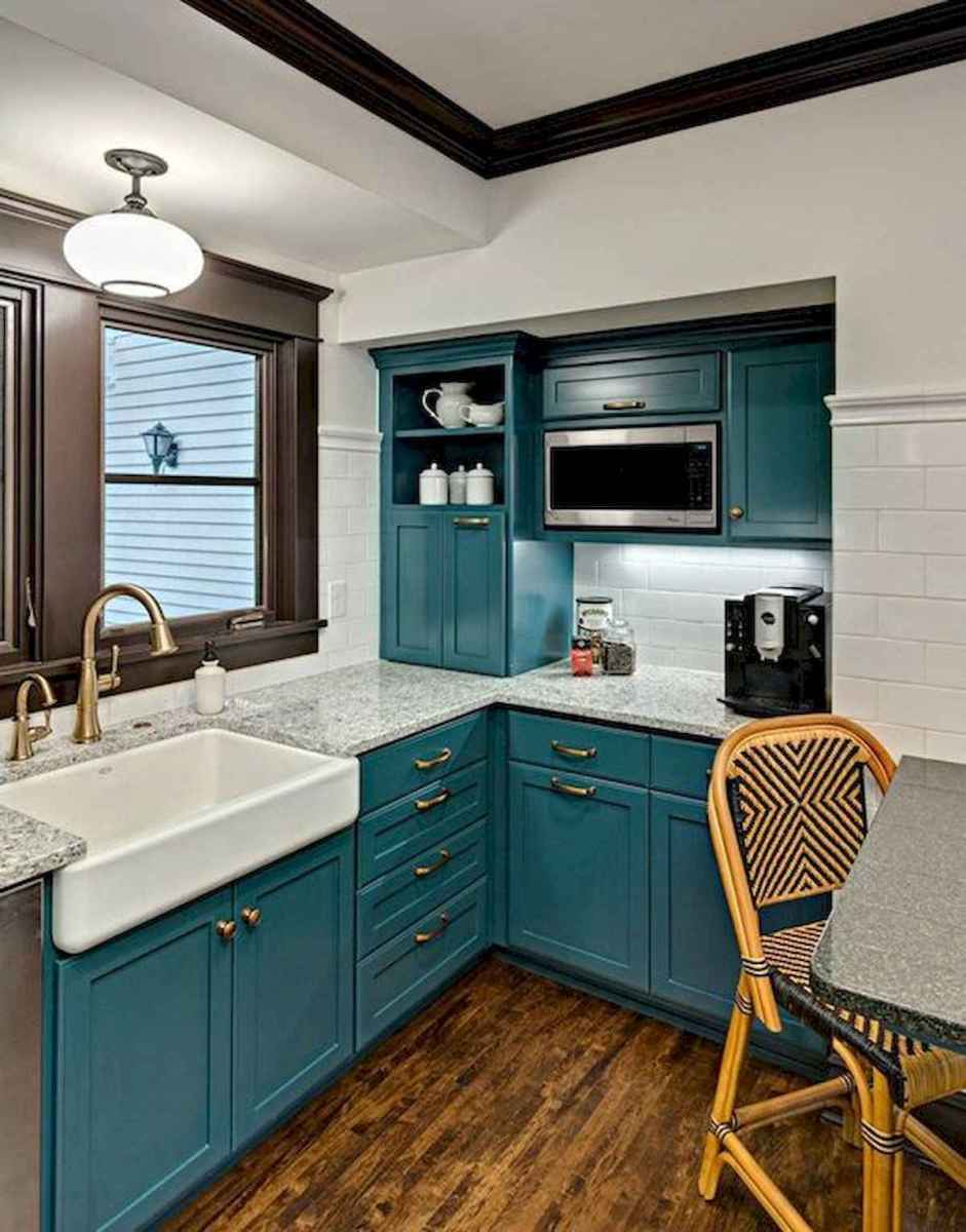 60 Lovely Painted Kitchen Cabinets Two Tone Design Ideas (2)