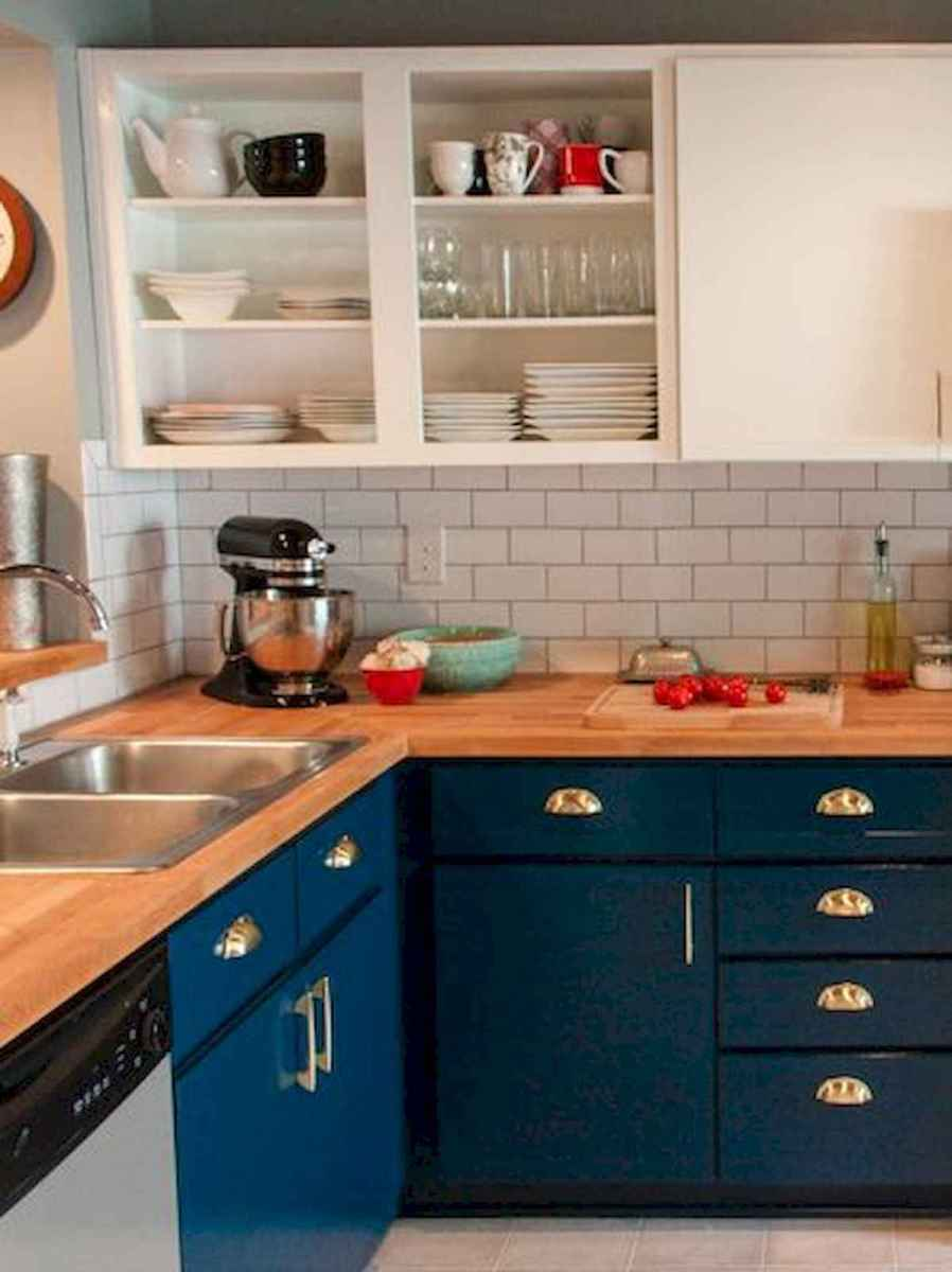 60 Lovely Painted Kitchen Cabinets Two Tone Design Ideas (22)