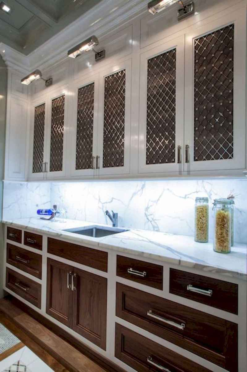60 Lovely Painted Kitchen Cabinets Two Tone Design Ideas (24)