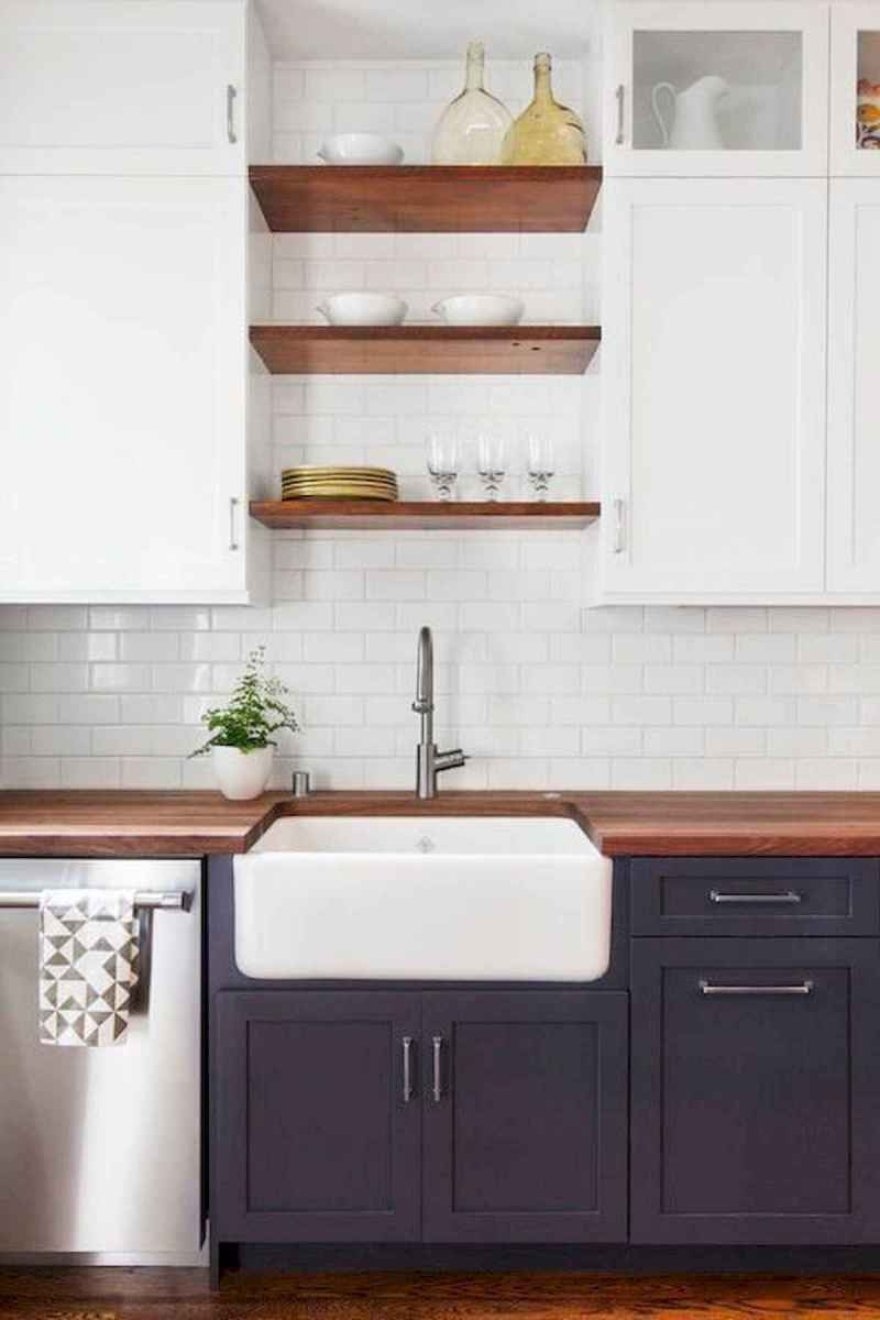 60 Lovely Painted Kitchen Cabinets Two Tone Design Ideas (33)