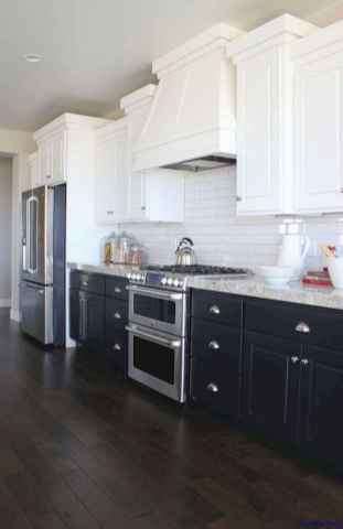 60 Lovely Painted Kitchen Cabinets Two Tone Design Ideas (38)