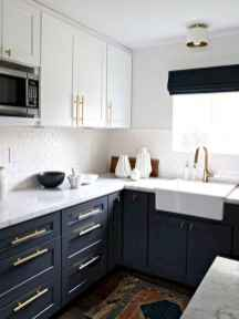 60 Lovely Painted Kitchen Cabinets Two Tone Design Ideas (44)