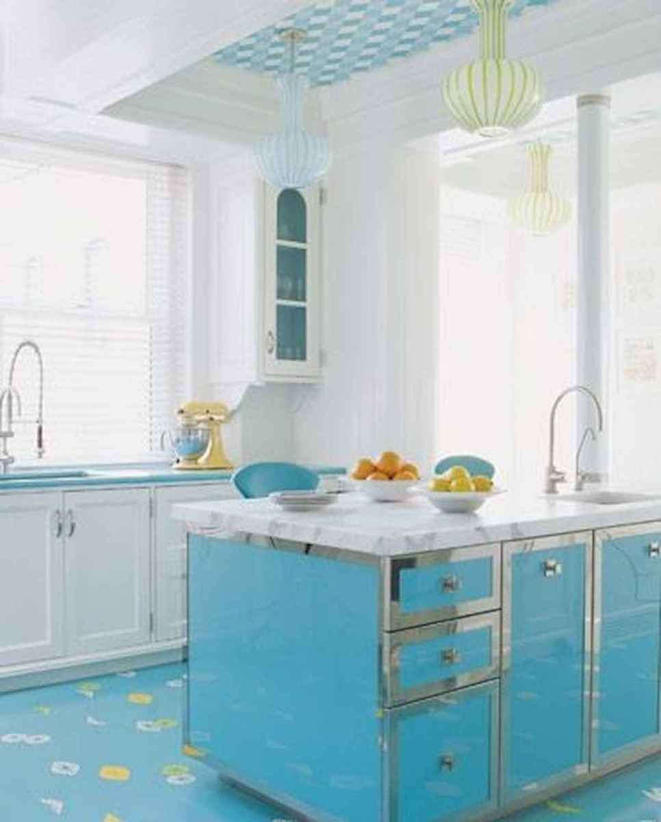 60 Lovely Painted Kitchen Cabinets Two Tone Design Ideas (56)