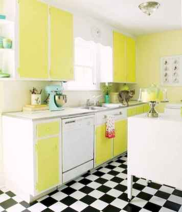 60 Lovely Painted Kitchen Cabinets Two Tone Design Ideas (57)