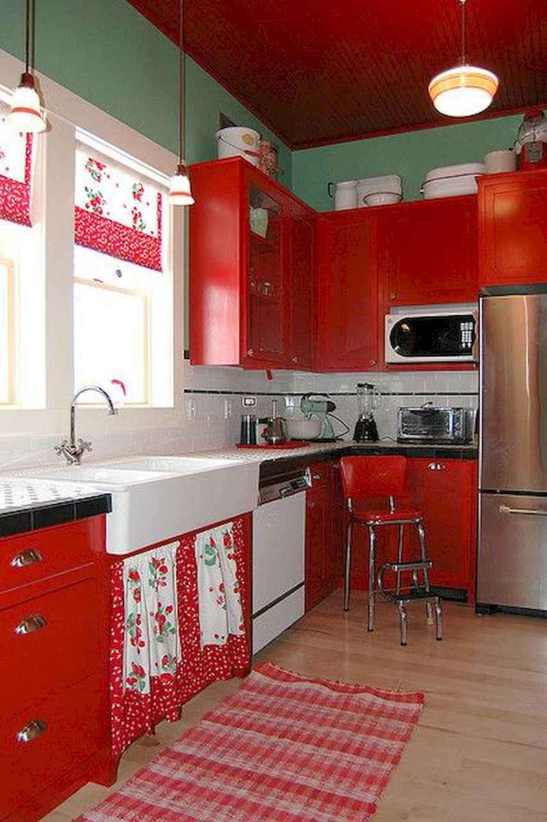 60 Lovely Painted Kitchen Cabinets Two Tone Design Ideas (62)