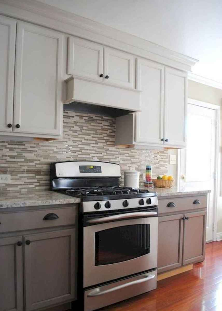 60 Lovely Painted Kitchen Cabinets Two Tone Design Ideas (9)
