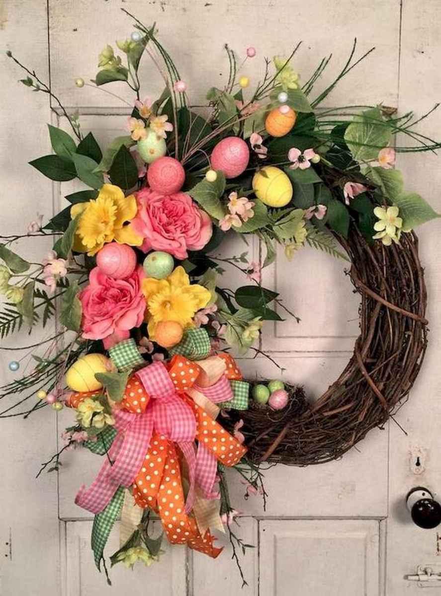 60 Beautiful Front Door Summer Wreath Decor Ideas (11)