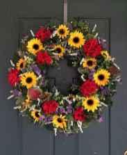 60 Beautiful Front Door Summer Wreath Decor Ideas (23)