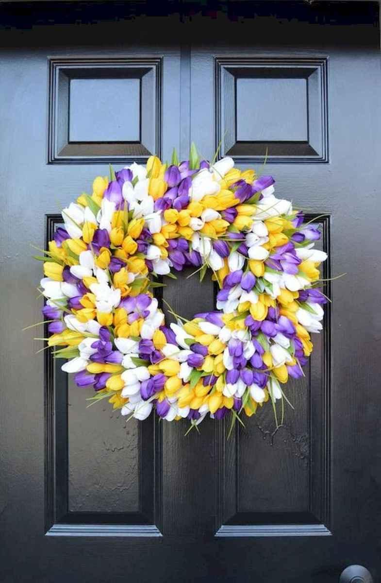 60 Beautiful Front Door Summer Wreath Decor Ideas (27)