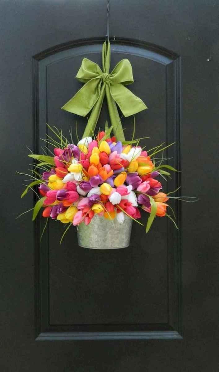 60 Beautiful Front Door Summer Wreath Decor Ideas (31)